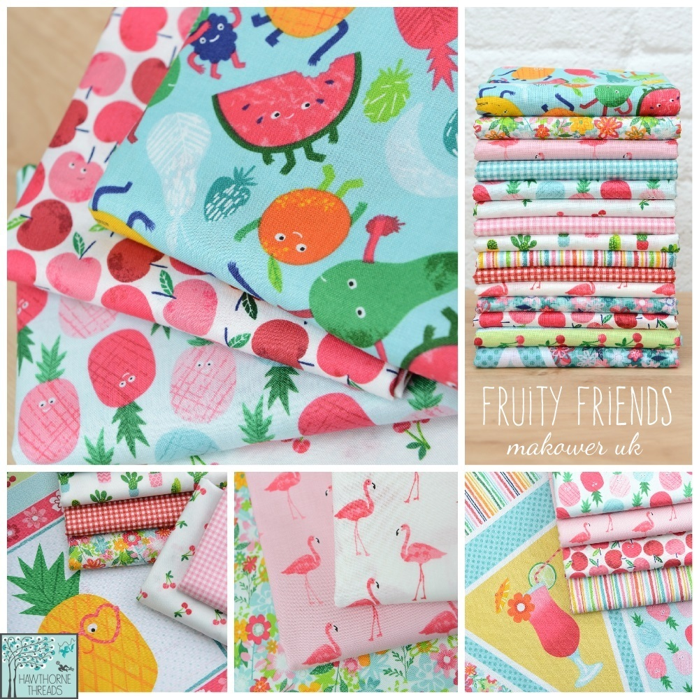 Fruity Friends Fabric Poster