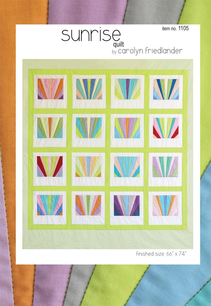 carolyn friedlander sunrise quilt sewing pattern