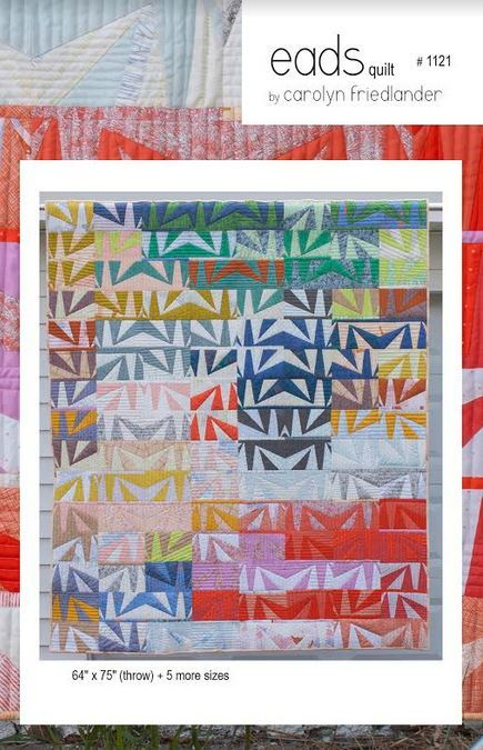 carolyn friedlander eads quilt sewing pattern