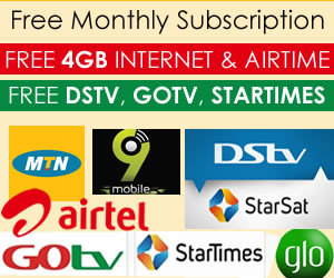 Get your free 4GB Internet, Airtime and TV subscription