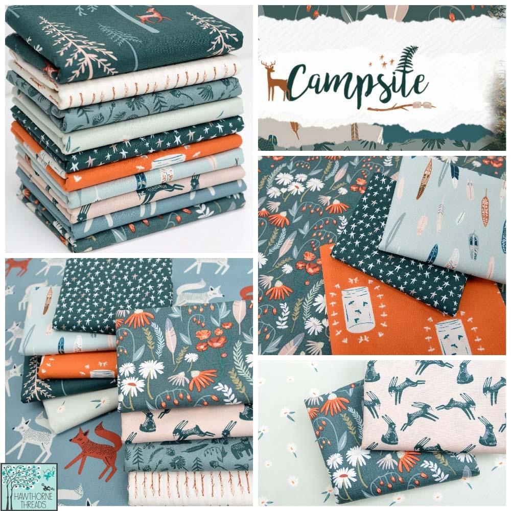 Campsite Fabric Poster b