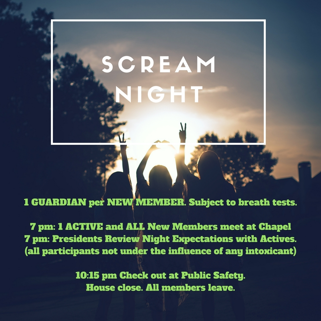 Scream Night 1