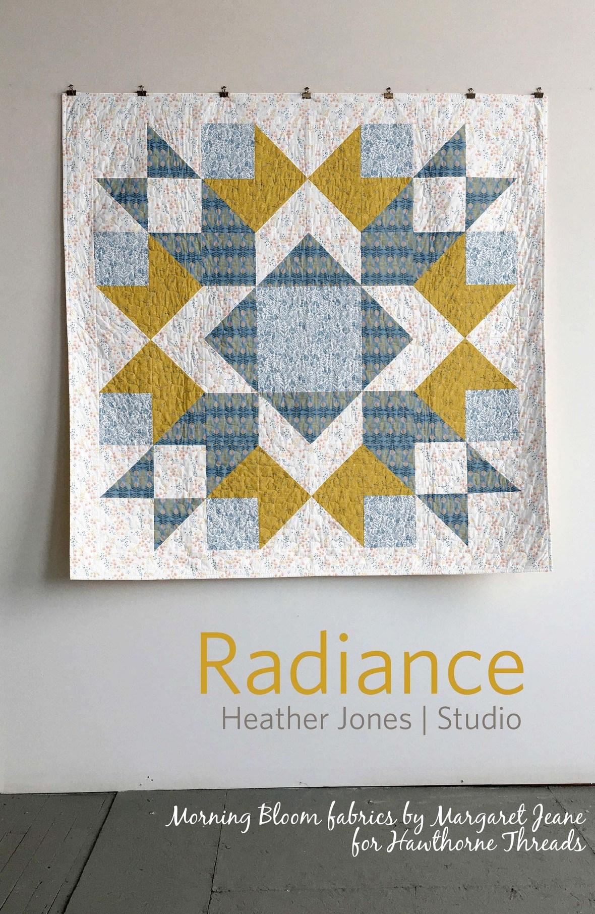 heather jones radience quilt in Morning Bloom