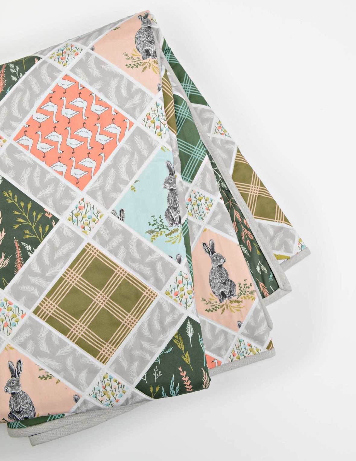 Meadow Fabric Spring Easter Quilt