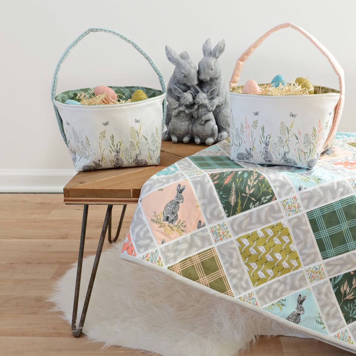Meadow Fabric Easter Baskets