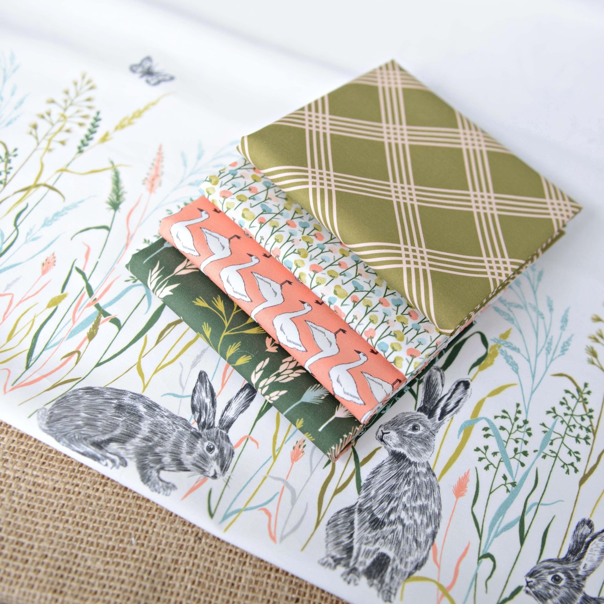 Meadow Fabric Double Border Design