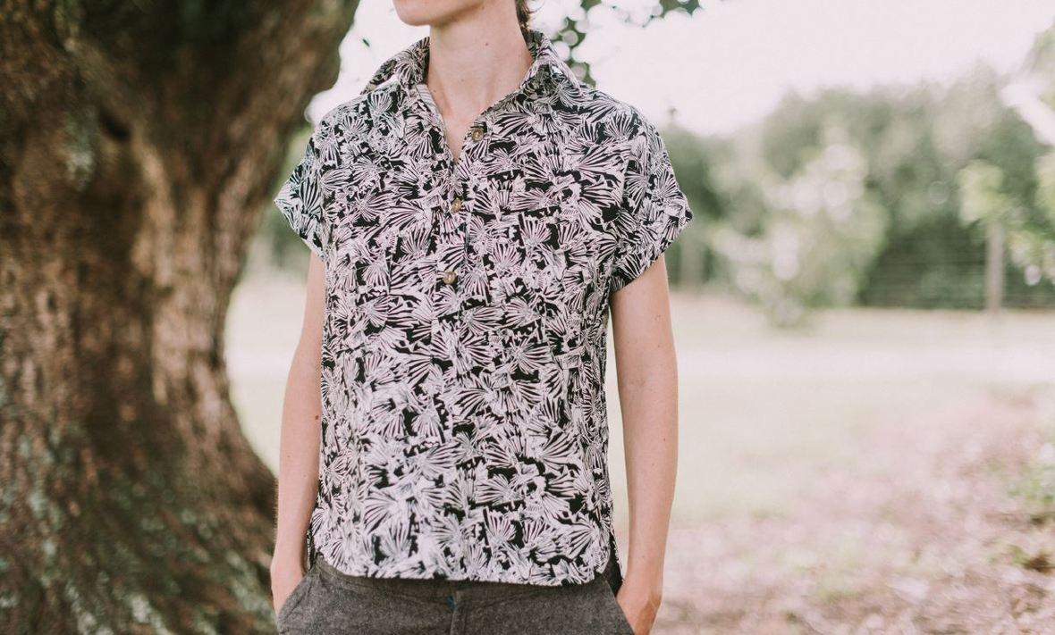 robert kaufman website- kalle shirt pattern