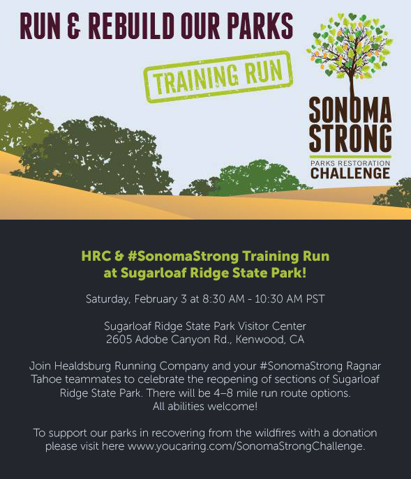 sonoma parks training run