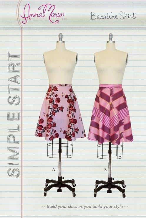 anna maria horner bassline skirt sewing pattern