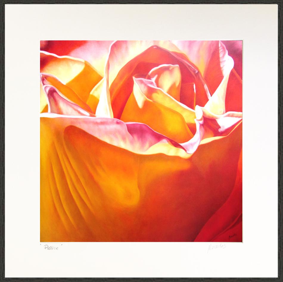 OrangeRosePassionPrint framed XLG4 psd