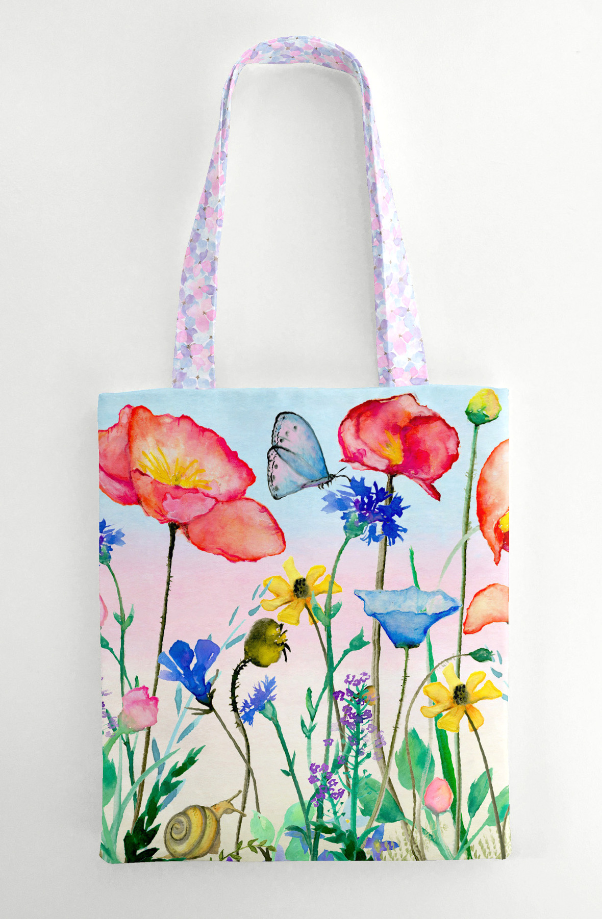Panel Tote Bag in Bel Giardino and Florence