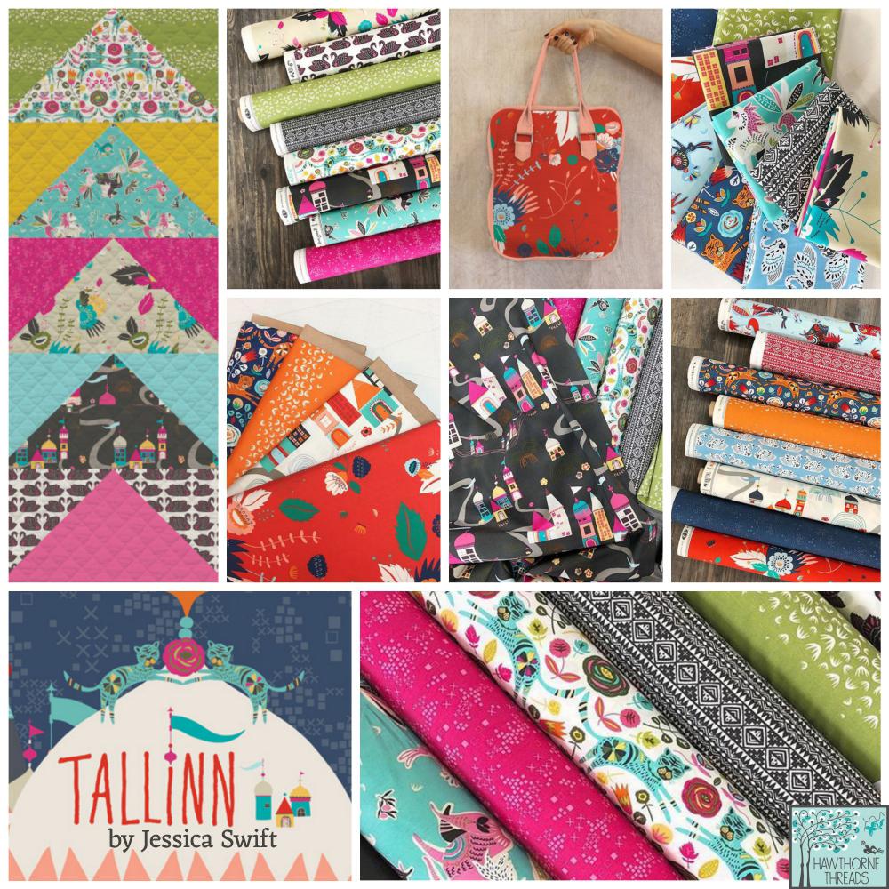Tallin fabric poster