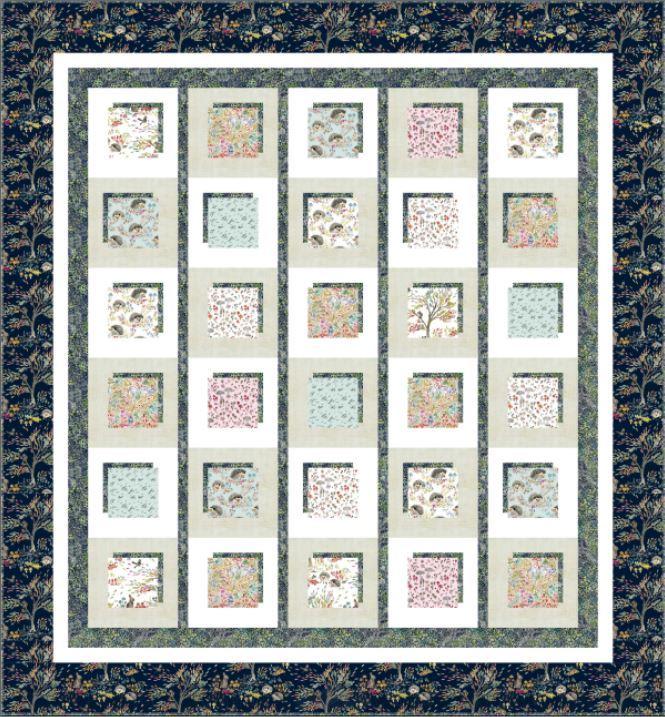windham-shadowbox quilt - free pattern