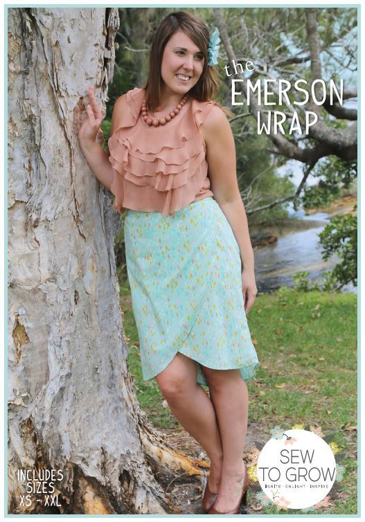 sew to grow  emerson wrap sewing pattern