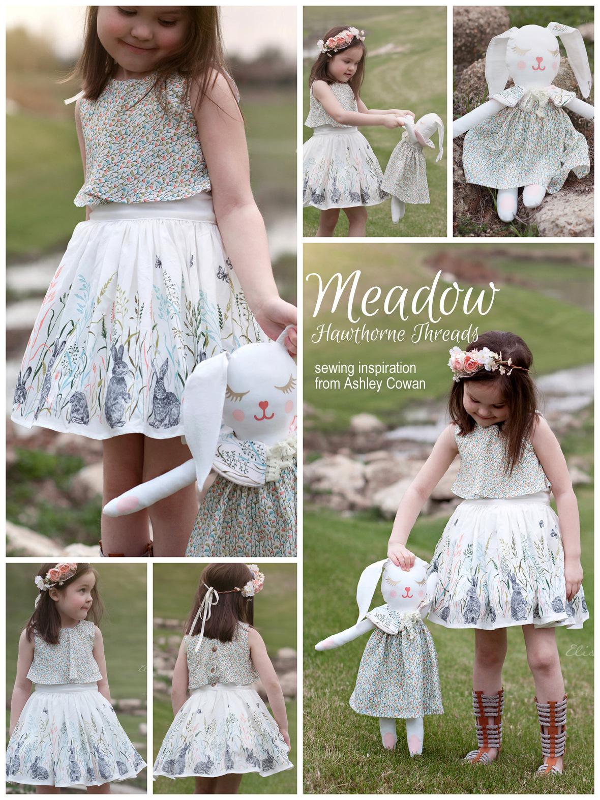 Meadow Fabric Violette Fields Dress