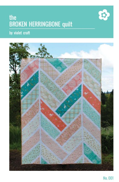 violet craft broken herringbone quilt sewing pattern