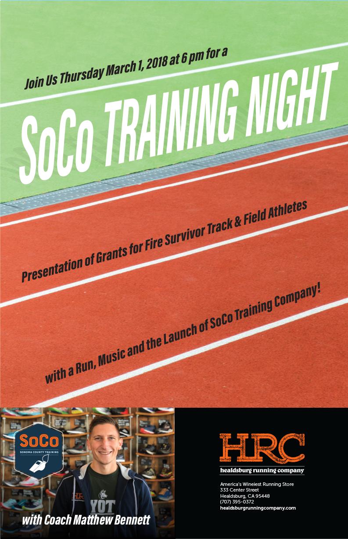 soco training night flyer