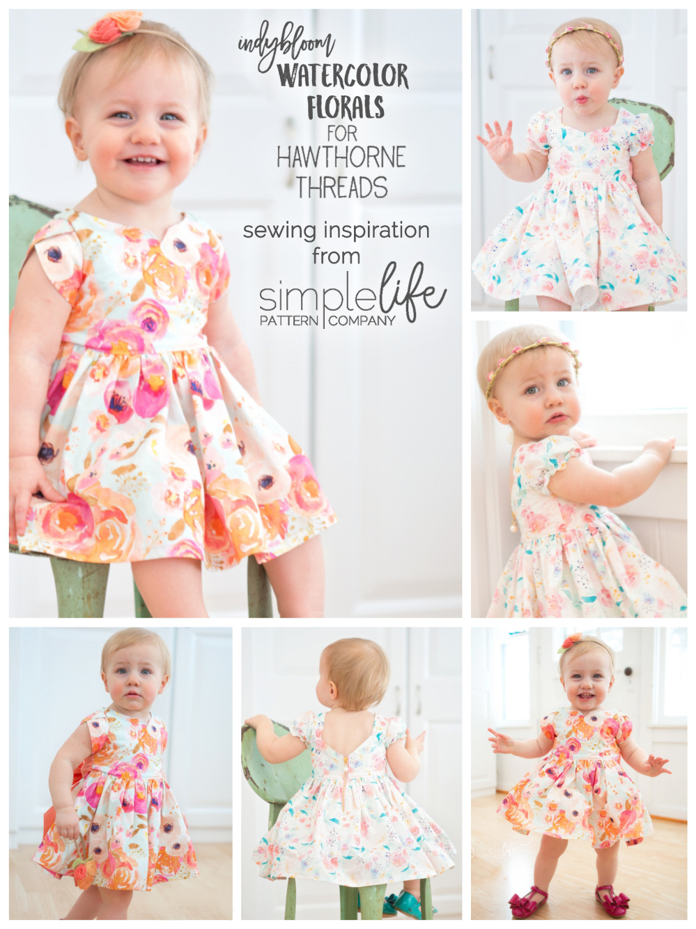 Simple Life Pattern Company Watercolor Floral inspiration
