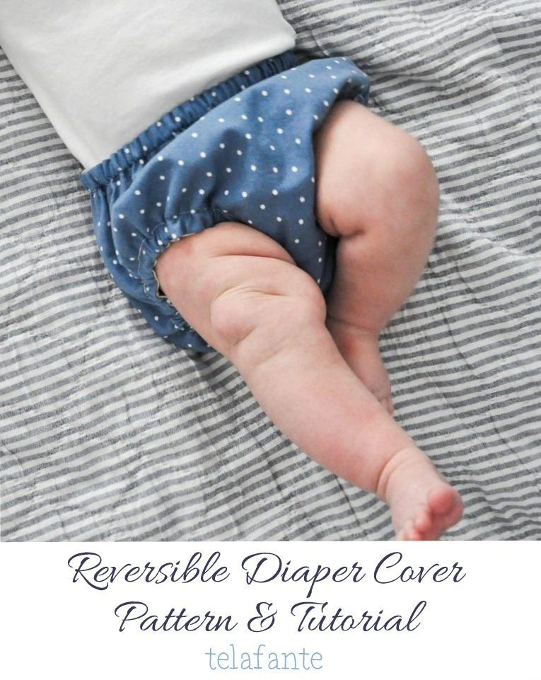 Reversible Diaper Cover Tutorial from Telefante