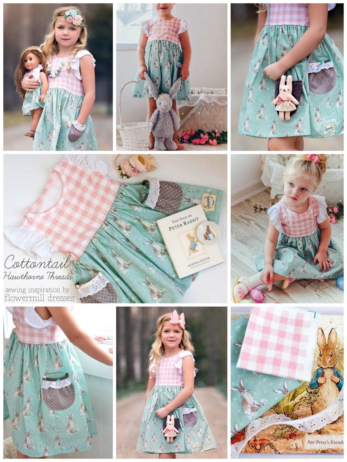 Cottontail Fabric Sewing Inspiration from Flowermill Dresses