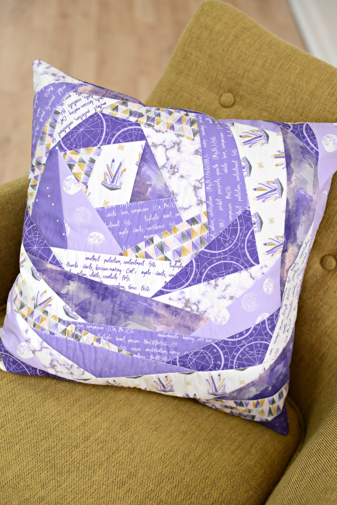 Ultra Violet Patchwork Pillow
