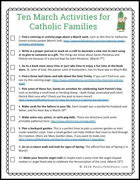 March Catholic Activities 2018 web