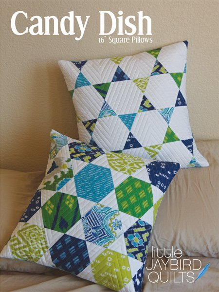 jaybird quilts  candy dish 16 inch square pillows sewing pattern