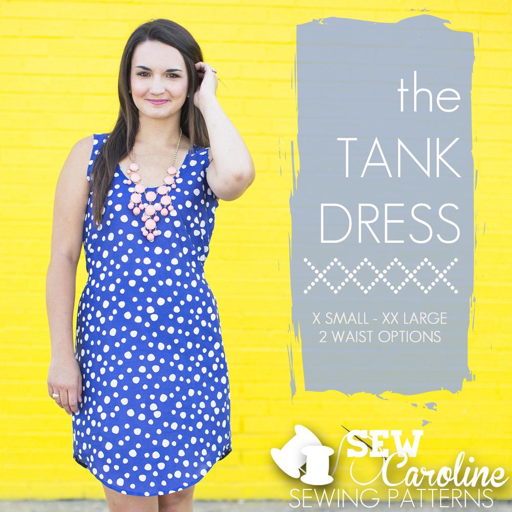 sew caroline the tank dress sewing pattern