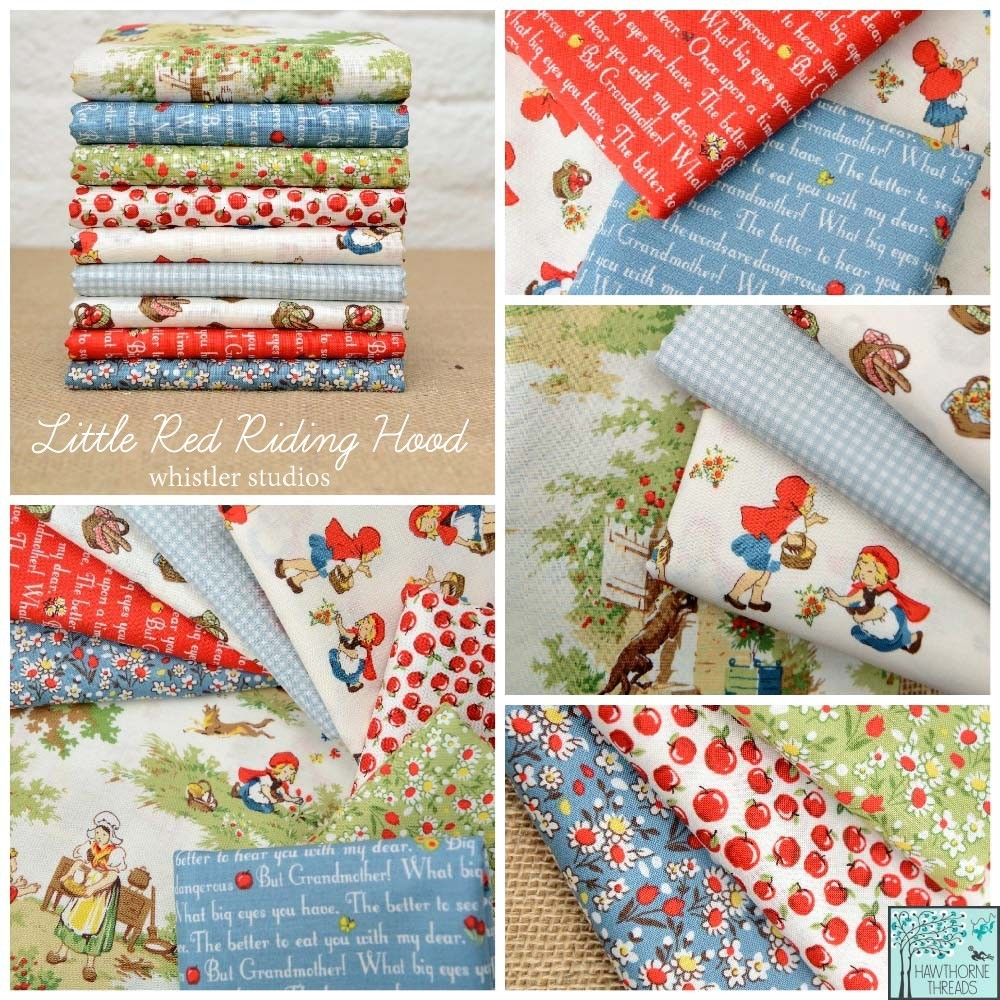 Little Red Riding Hood Fabric Poster