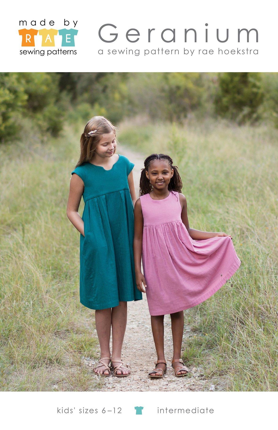 made by rae kids geranium dress sewing pattern