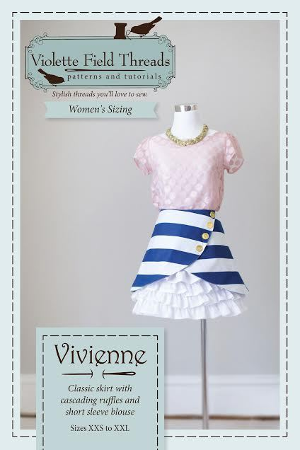 violette field threads vivienne misses skirt and blouse sewing pattern