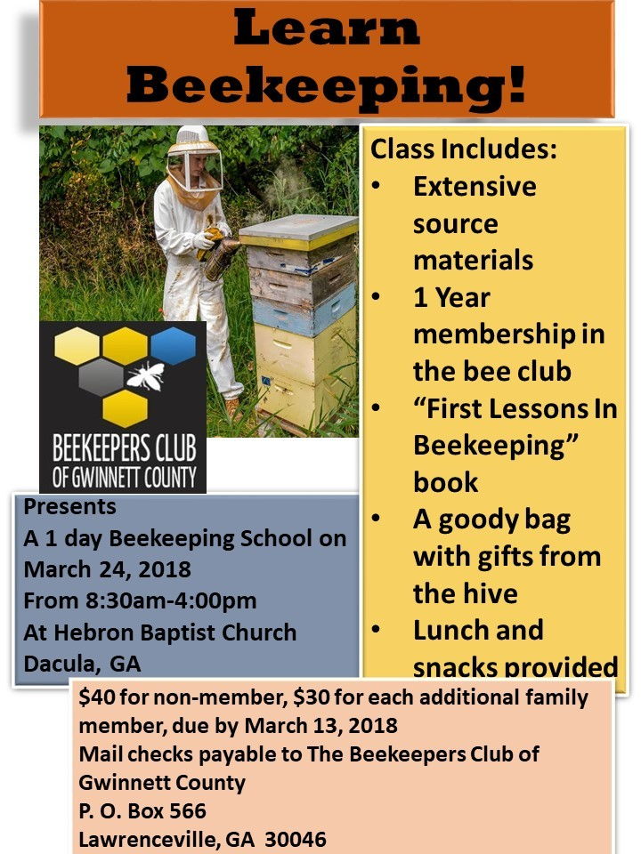 Learn Beekeeping Flyer