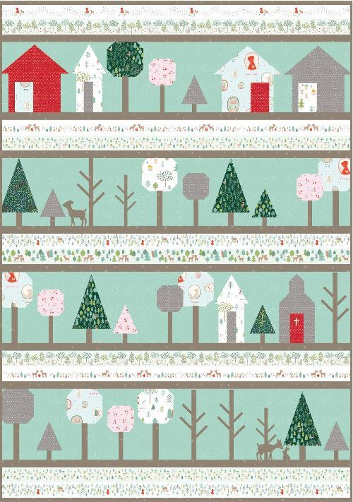 dear stella- through the woods - pattern available from rachelrossi.design