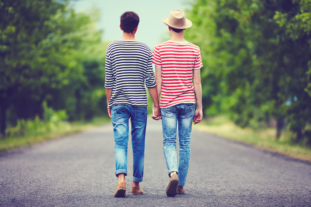 gay couple by Olesia Bilkei
