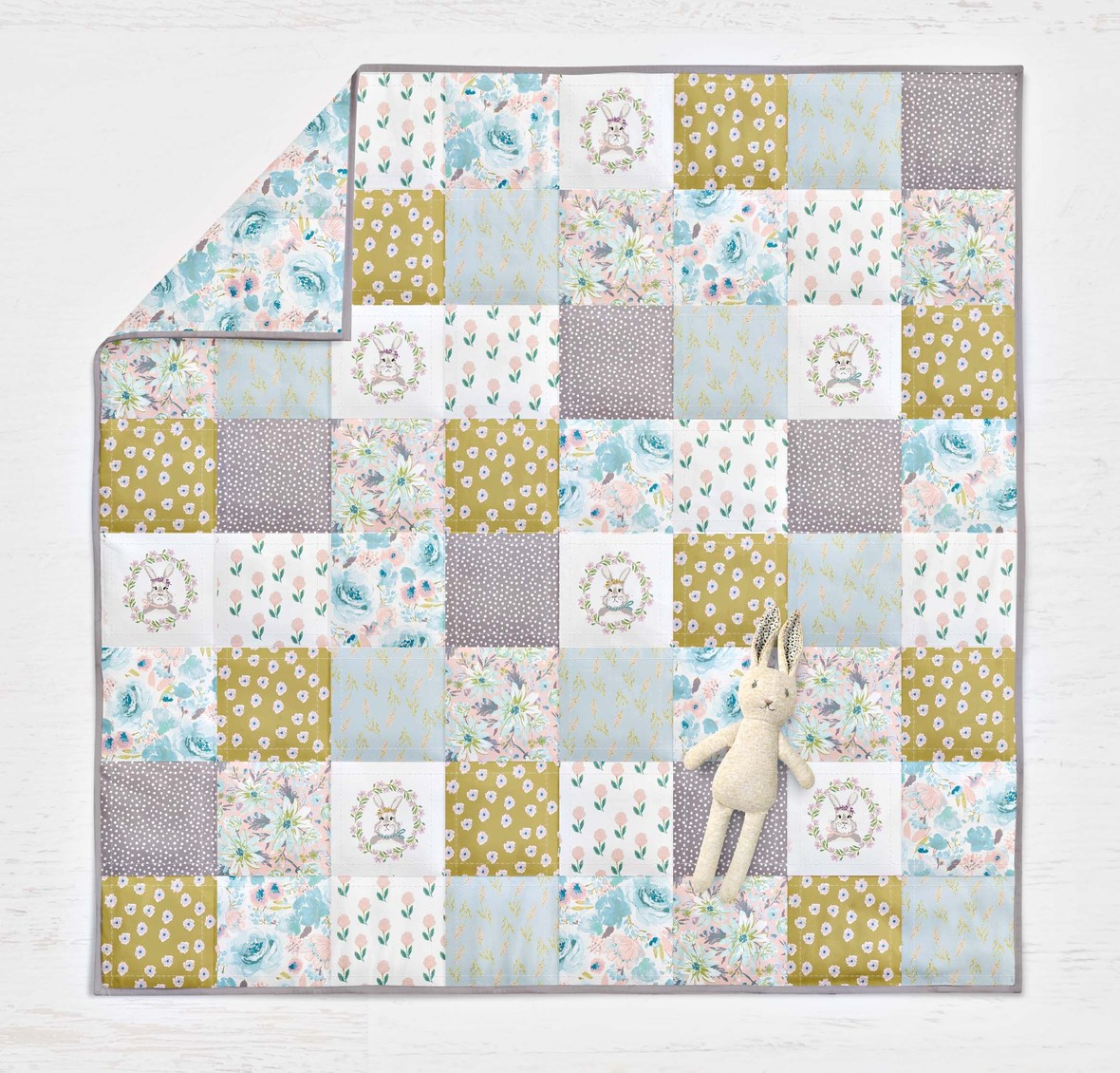Hello Spring Indy Bloom Fabric Quilt