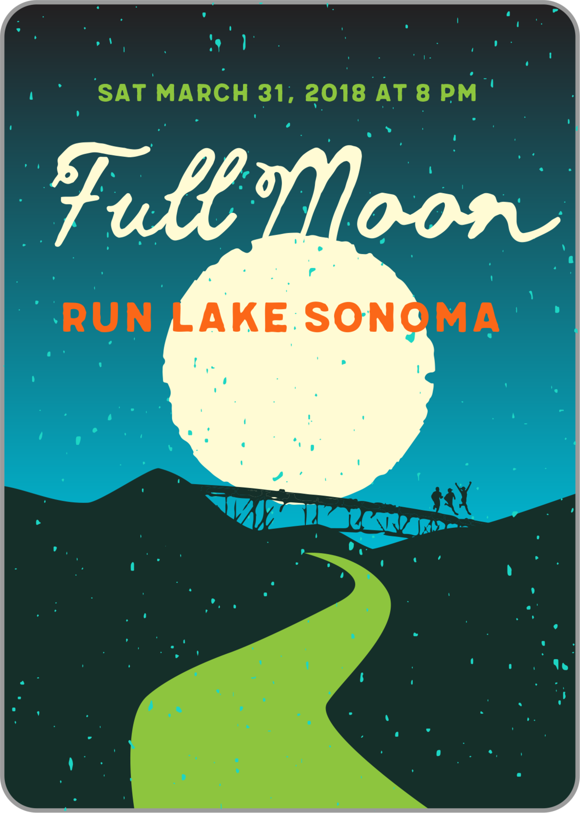 lake sonoma full moon badge