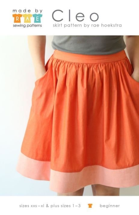 made by rae cleo skirt sewing pattern