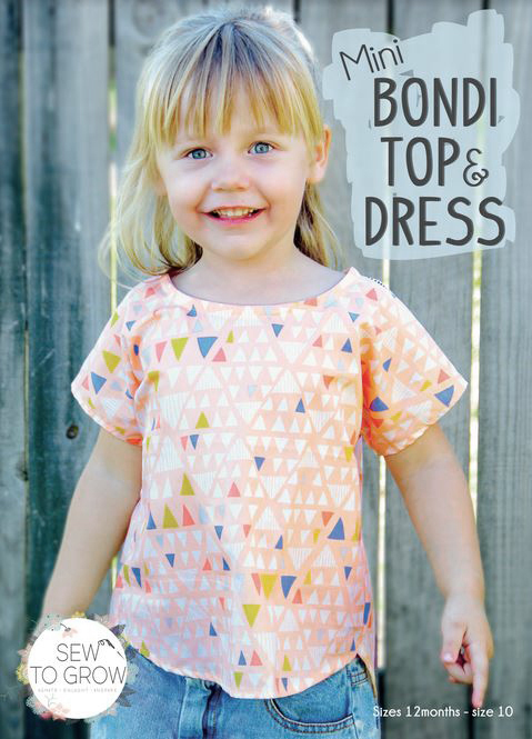 sew to grow  mini bondi top and dress sewing pattern