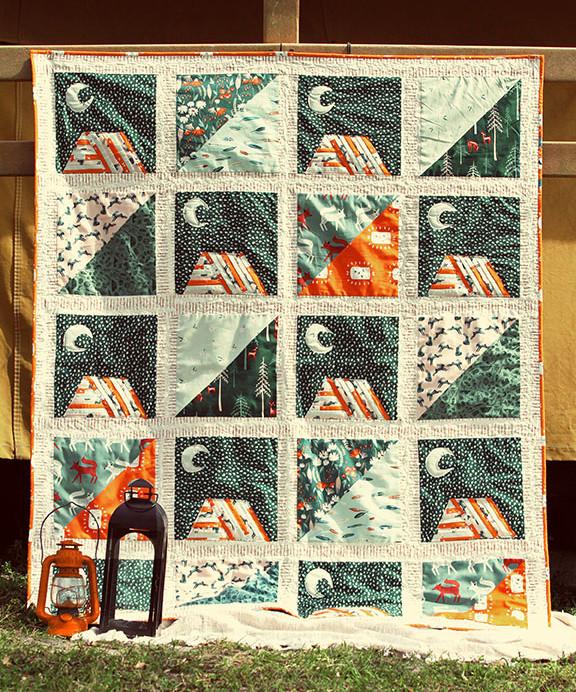 moonlit camp quilt kit 2.1
