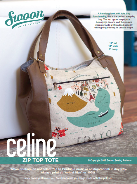 New Pattern: Celine Zip Top Tote