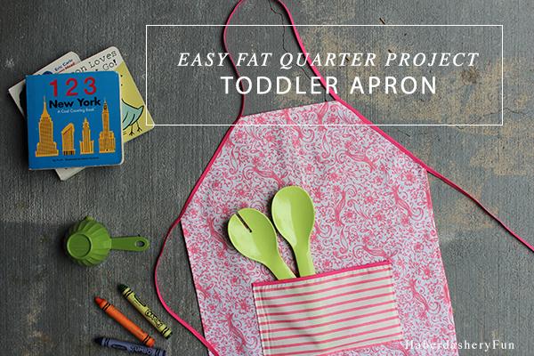 haberdasheryfun- toddler apron tutorial