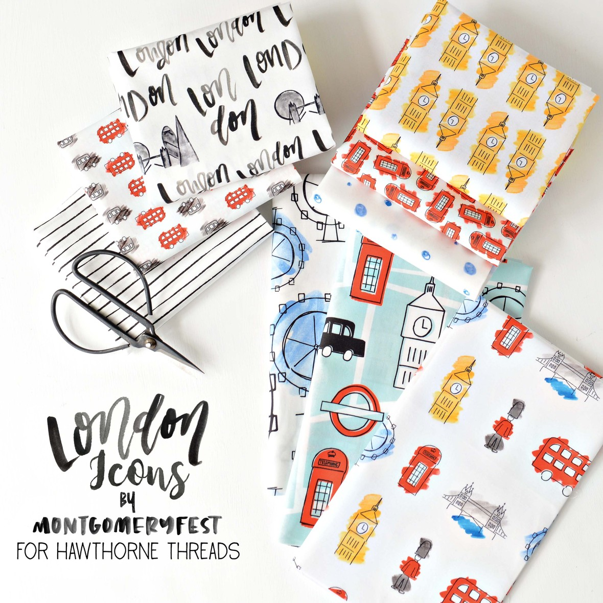 London Icons Fabric Poster MontgomeryFest for Hawthorne Threads b