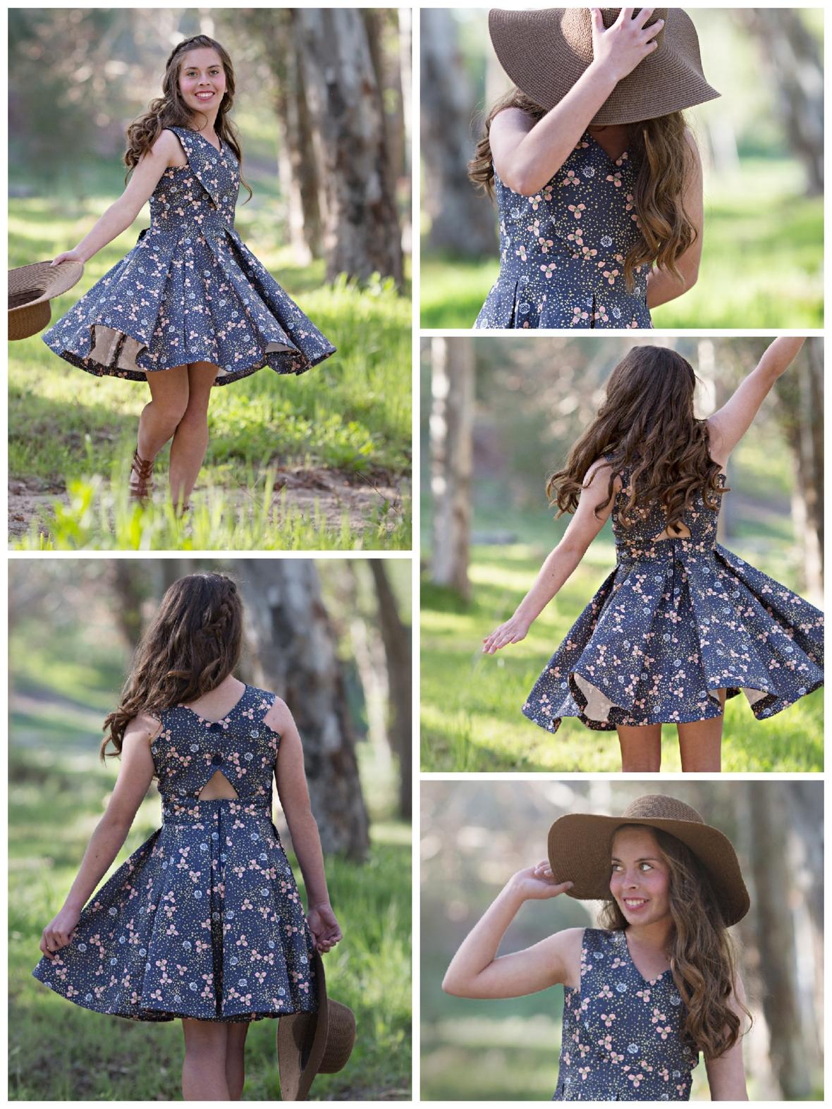 Violette Fields Threads Kennedy Dress in Hedgerow Fabric
