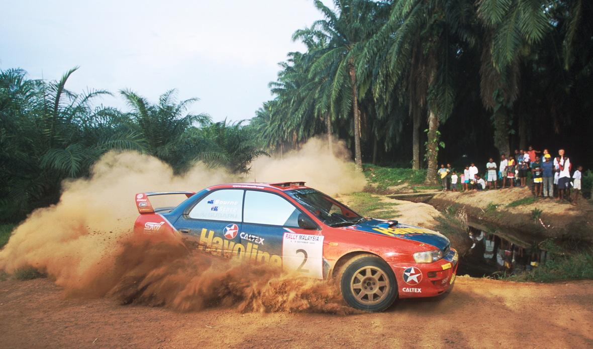 494 - 2000 Rally of Malaysia - Possum Bourne - Caltex-Havoline Subaru - Linear Photographs