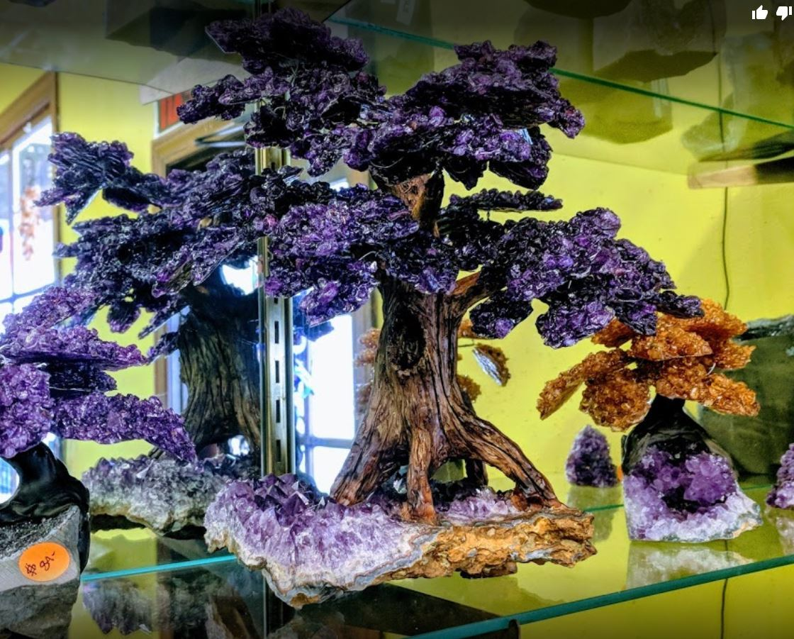 Allens Gems and Rocks amethyst trees
