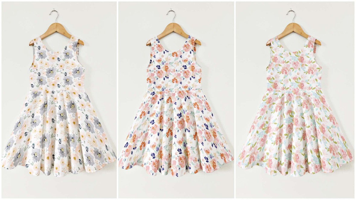 Watercolor Floral Ayda Dresses
