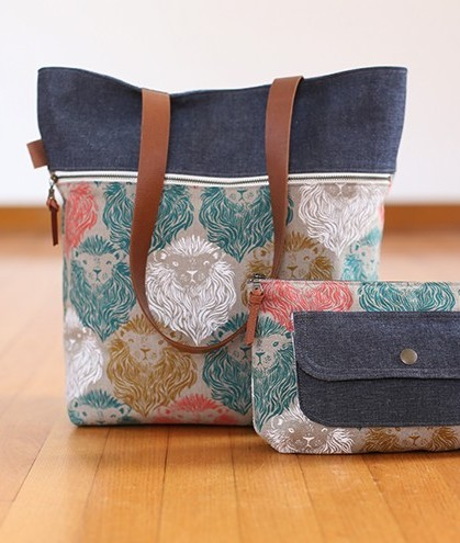 noodlehead caravan tote and pouch sewing pattern 2