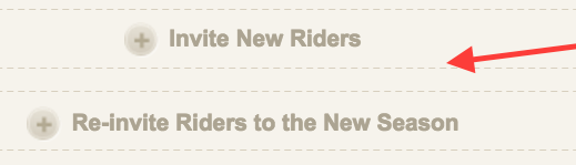 Invite Rider Button