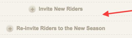 Invite Rider Button