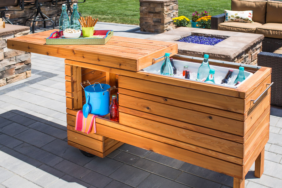 Brilliant Diy Cooler Tables For The Patio With Built In Coolers Sinks And Ice Bo